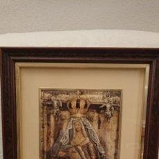 Arte: ORIGINAL CUADRO DE LA VIRGEN DEL CAMINO, EN RELIEVE. Lote 183445020