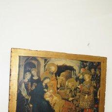 Arte: ANTIGUO ICONO RELIGIOSO NACIMIENTO DE JESÚS. Lote 183465143