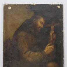 Arte: SAN FRANCISCO ABRAZADO A CRISTO LLORANDO. OLEO S/ LIENZO. SIGLO XVII. Lote 183481092