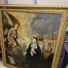 Arte: OLEO RELIGIOSO VIRGEN CON ANGEL. Lote 183526667