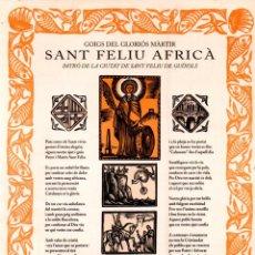 Arte: GOIGS DE SANT FELÍU AFRICÀ - S. FELÍU DE GUÍXOLS (1997). Lote 183553462