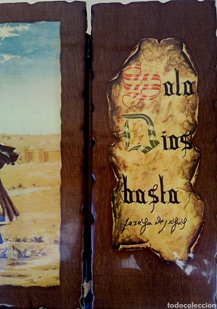 Arte: SANTA TERESA DE JESUS - TRIPTICO RELIGIOSO SOBRE MADERA - AÑOS 1940 - Foto 3 - 183569022