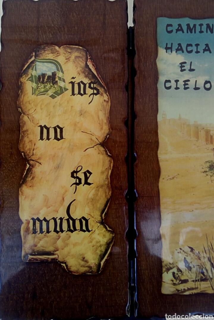 Arte: SANTA TERESA DE JESUS - TRIPTICO RELIGIOSO SOBRE MADERA - AÑOS 1940 - Foto 4 - 183569022