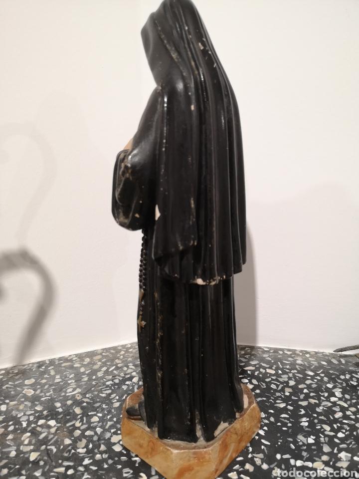 Arte: Santa Rita figura de Olot 32cm, con faltas, ver fotos - Foto 4 - 183584098