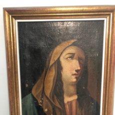 Arte: OLEO SOBRE TELA RELIGIOSO ANTIGUO PARA RESTAURAR. VIRGEN.. Lote 183646526