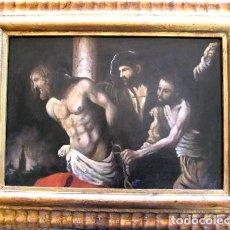 Arte: ESCUELA SEVILLANA. LA FLAGELACION DE CRISTO. ÓLEO/TABLA.. Lote 183667038