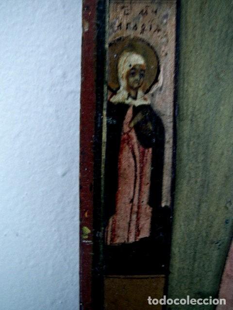 Arte: Icono de Ruso siglo 19. Significando: Madre de Dios, Curadora de Penas. - Foto 2 - 183675031