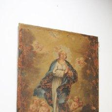 Arte: ÓLEO ANTIGUO VIRGEN INMACULADA PARA RESTAURACIÓN. Lote 183711655