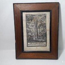 Arte: GRABADO ORIGINAL S.XIX VIRGEN DEL PILAR EN SEDA IMPRESA. MEDIDAS FOTOGRAFIADA. Lote 183725918