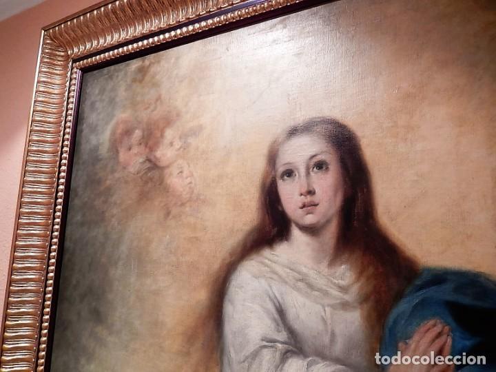 Arte: Gran óleo Inmaculada s. XVIII-XIX - Foto 4 - 183740172