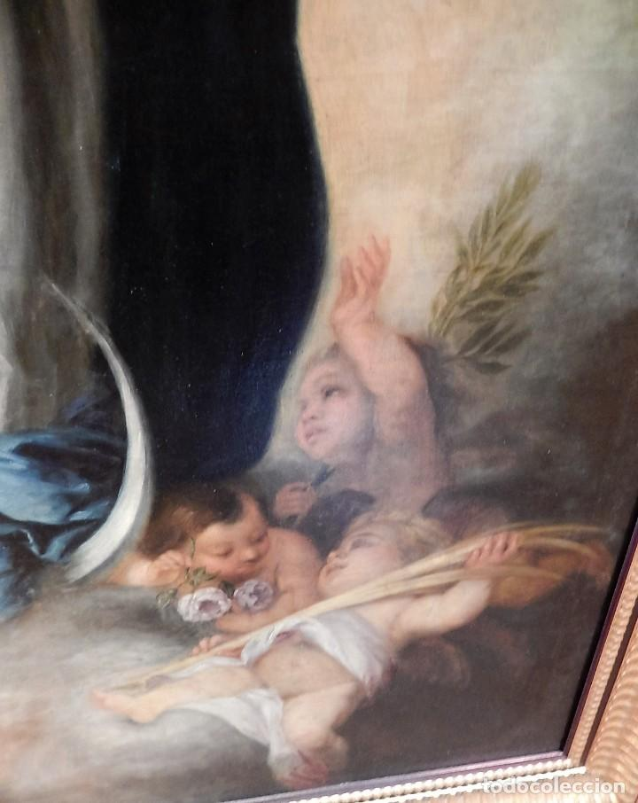 Arte: Gran óleo Inmaculada s. XVIII-XIX - Foto 5 - 183740172
