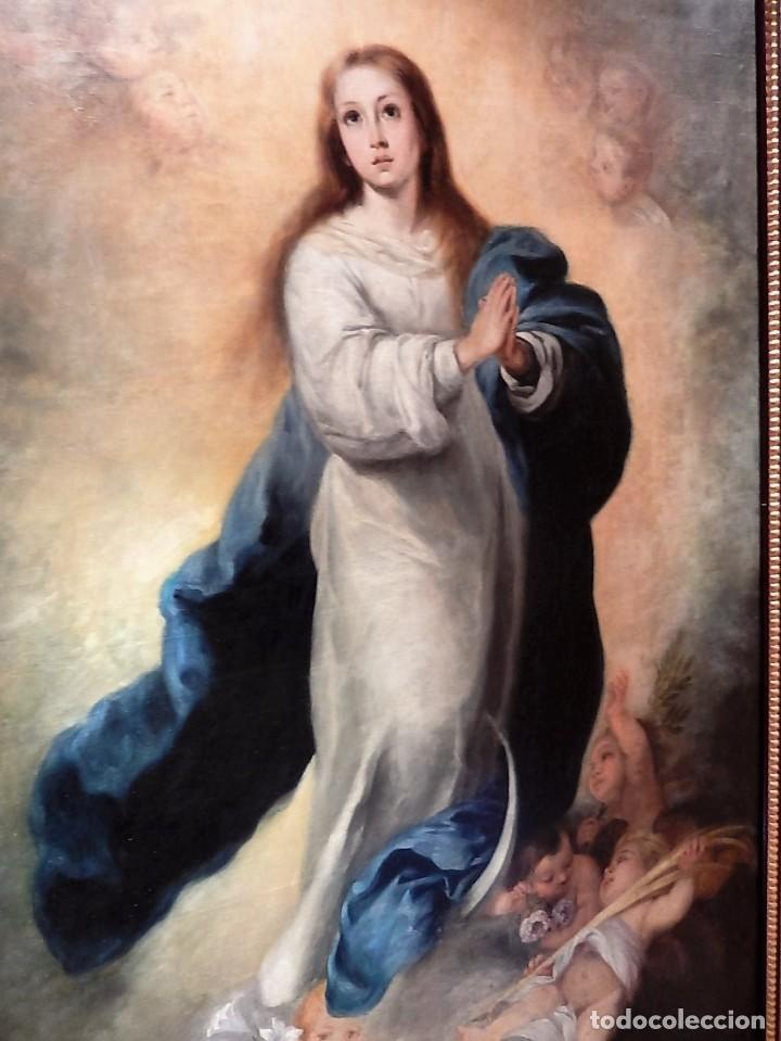 Arte: Gran óleo Inmaculada s. XVIII-XIX - Foto 7 - 183740172