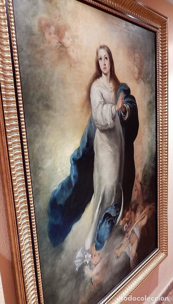 Arte: Gran óleo Inmaculada s. XVIII-XIX - Foto 8 - 183740172