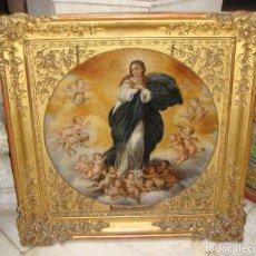 Arte: MAGNÍFICO ÓLEO SOBRE TABLA. S.XIX. INMACULADA. PRECIOSO MARCO DORADO.. Lote 183796076