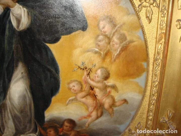 Arte: Magnífico Togo. Óleo sobre tabla. S.XVIII. Inmaculada. Precioso marco dorado. - Foto 15 - 183796076