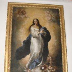 Arte: EXCEPCIONAL INMACULADA CONCEPCIÓN. ÓLEO SOBRE LIENZO. MARCO DORADO. GRAN TAMAÑO.. Lote 183797176