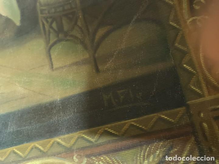 Arte: Jesus y sus Apostoles lienzo sin marco firmado. - Foto 3 - 183809213
