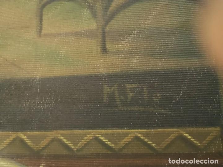 Arte: Jesus y sus Apostoles lienzo sin marco firmado. - Foto 9 - 183809213