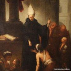 Arte: PINTURA RELIGIOSA ITALIANA ANTIGUA LA CARIDAD DEL SIGLO XVIII. Lote 183814408