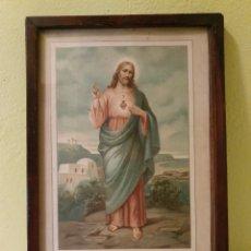 Arte: ANTIGUO CUADRO LAS PROMESAS DE NUESTRO SEÑOR JESUCRISTO. Lote 183816363