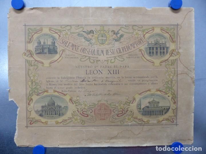 SOLEMNE OBSEQUIUM IESU CH. REDEMPTORI, NUESTRO SMO. PADRE EL PAPA LEON XIII - AÑO 1900 (Arte - Arte Religioso - Litografías)
