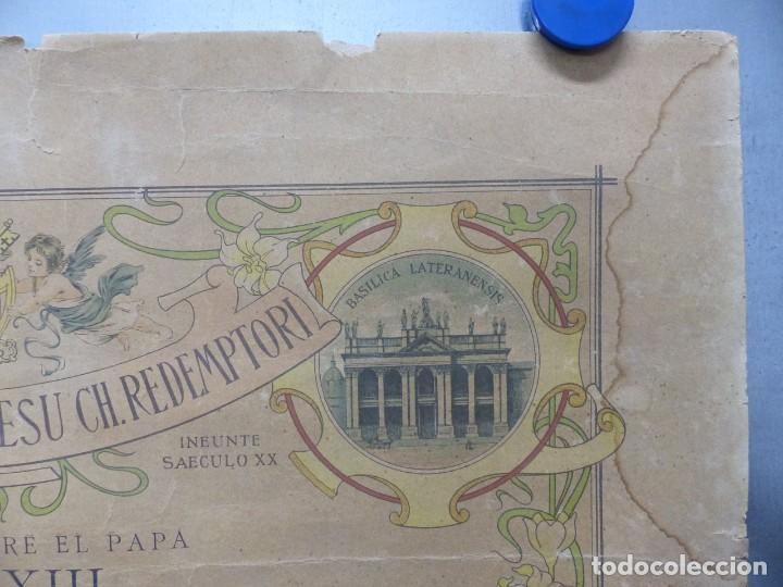 Arte: SOLEMNE OBSEQUIUM IESU CH. REDEMPTORI, NUESTRO SMO. PADRE EL PAPA LEON XIII - AÑO 1900 - Foto 5 - 183822578