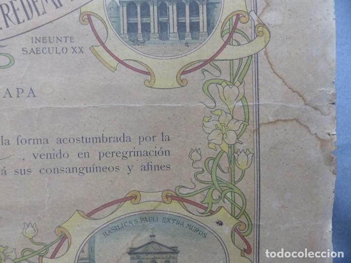 Arte: SOLEMNE OBSEQUIUM IESU CH. REDEMPTORI, NUESTRO SMO. PADRE EL PAPA LEON XIII - AÑO 1900 - Foto 6 - 183822578