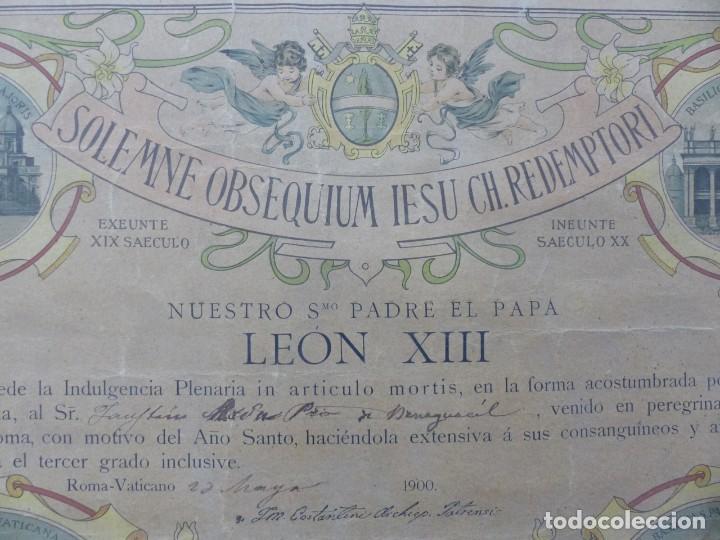 Arte: SOLEMNE OBSEQUIUM IESU CH. REDEMPTORI, NUESTRO SMO. PADRE EL PAPA LEON XIII - AÑO 1900 - Foto 9 - 183822578