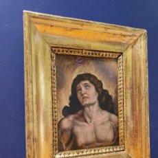 Arte: SAN SEBASTIÁN. ÓLEO SOBRE COBRE. SIGLO XVIII. CON MARCO ANTIGUO.. Lote 183829611