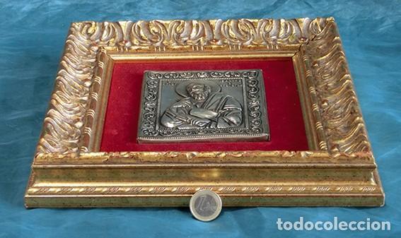 Arte: PRECIOSO ICONO RELIGIOSO - LATÓN REPUJADO - ARTE RELIGIOSO - ENMARCADO - - Foto 5 - 183830315