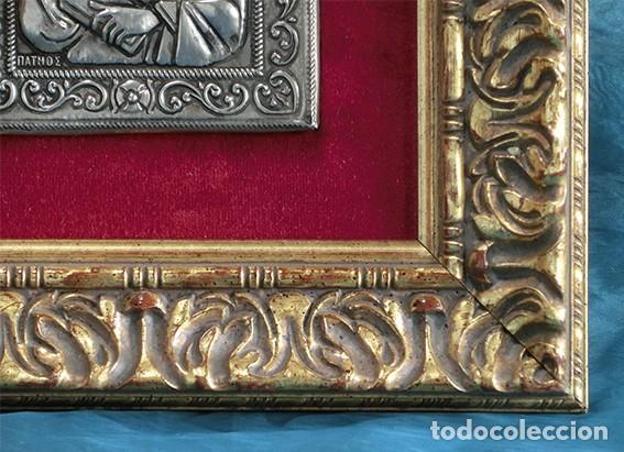 Arte: PRECIOSO ICONO RELIGIOSO - LATÓN REPUJADO - ARTE RELIGIOSO - ENMARCADO - - Foto 8 - 183830315
