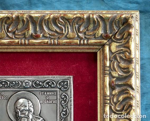 Arte: PRECIOSO ICONO RELIGIOSO - LATÓN REPUJADO - ARTE RELIGIOSO - ENMARCADO - - Foto 10 - 183830315