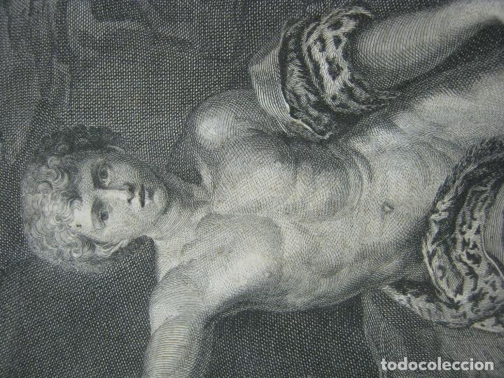 Arte: Rafael Sanzio. Grabado antiguo San Juan Bautista EXQUISITO !!! - Foto 3 - 183863997