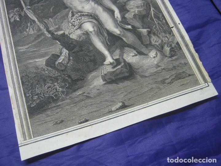 Arte: Rafael Sanzio. Grabado antiguo San Juan Bautista EXQUISITO !!! - Foto 8 - 183863997