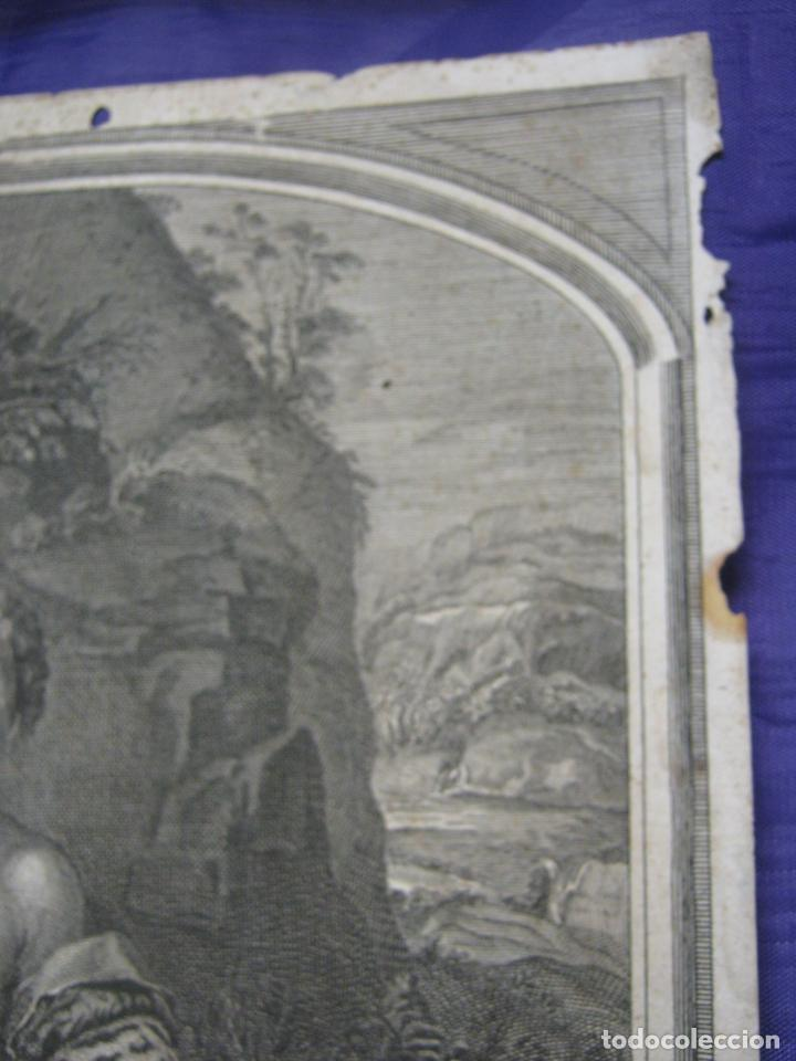 Arte: Rafael Sanzio. Grabado antiguo San Juan Bautista EXQUISITO !!! - Foto 6 - 183863997