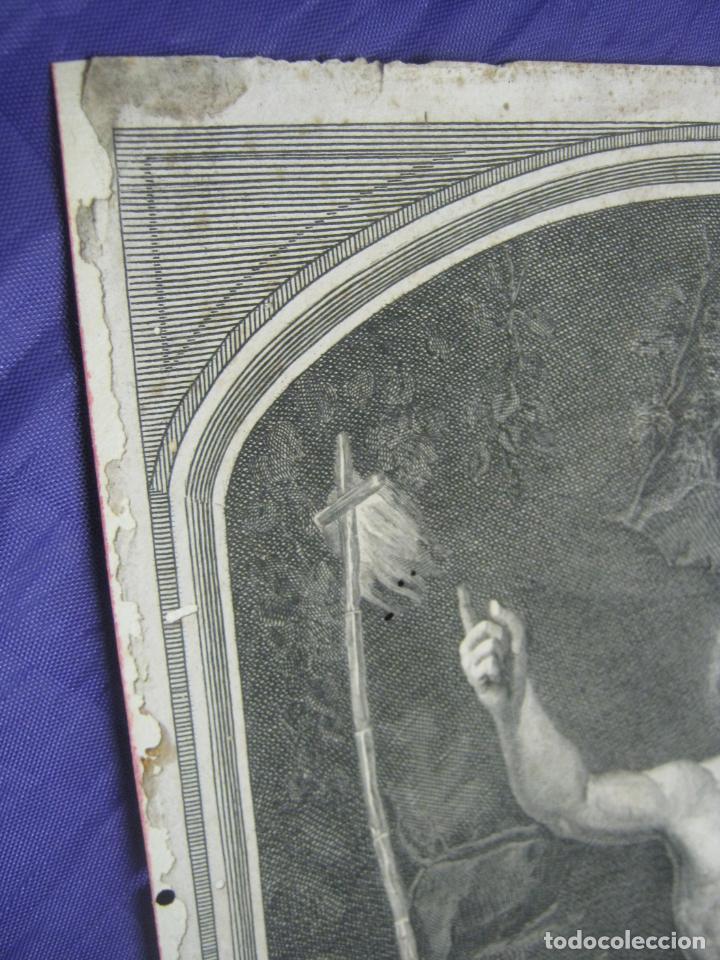 Arte: Rafael Sanzio. Grabado antiguo San Juan Bautista EXQUISITO !!! - Foto 7 - 183863997