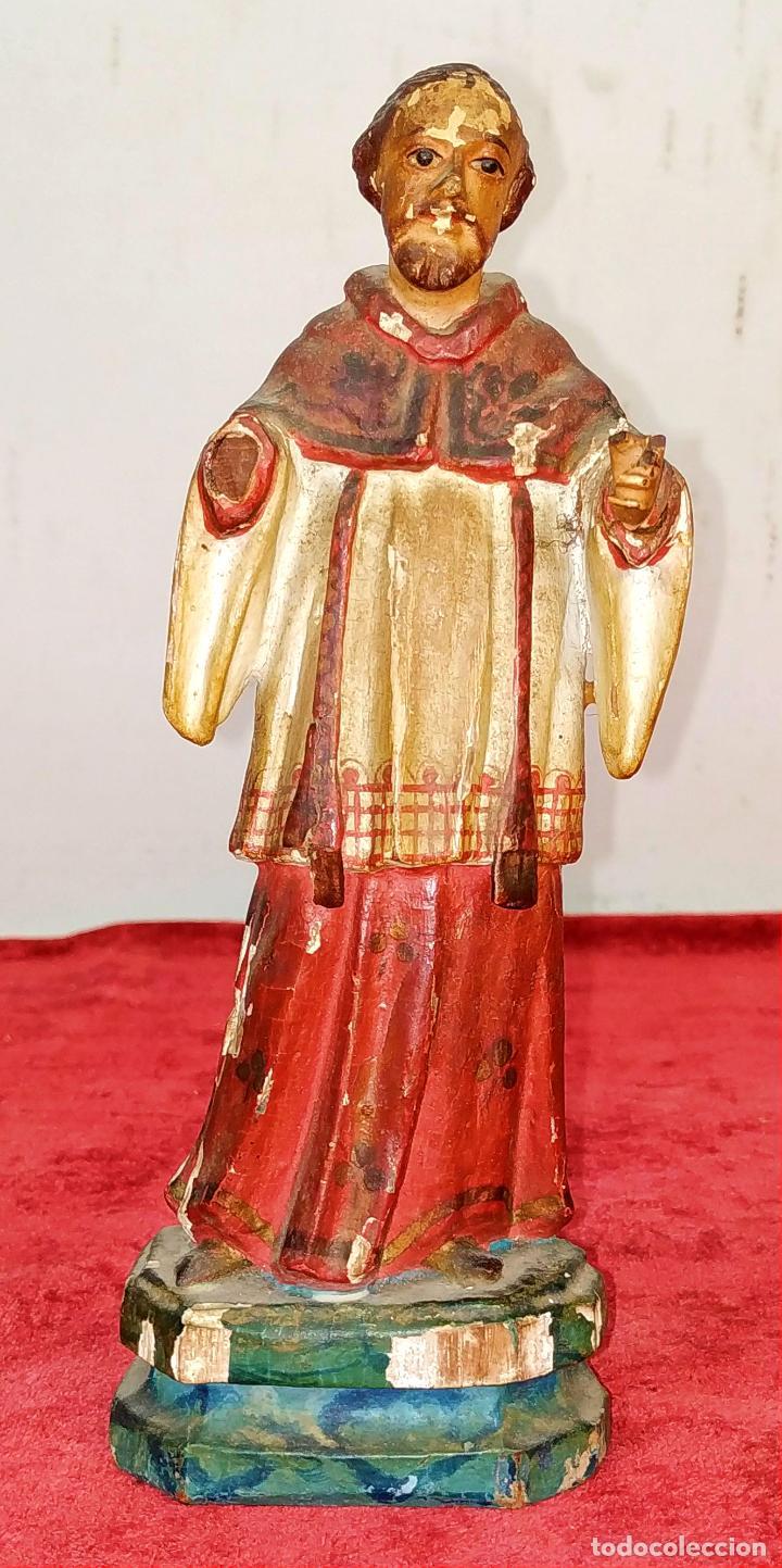 SAN RAMÓN NONATO. ESCULTURA. MADERA TALLADA Y POLICROMADA. ESPAÑA. XVIII-XIX (Arte - Arte Religioso - Escultura)