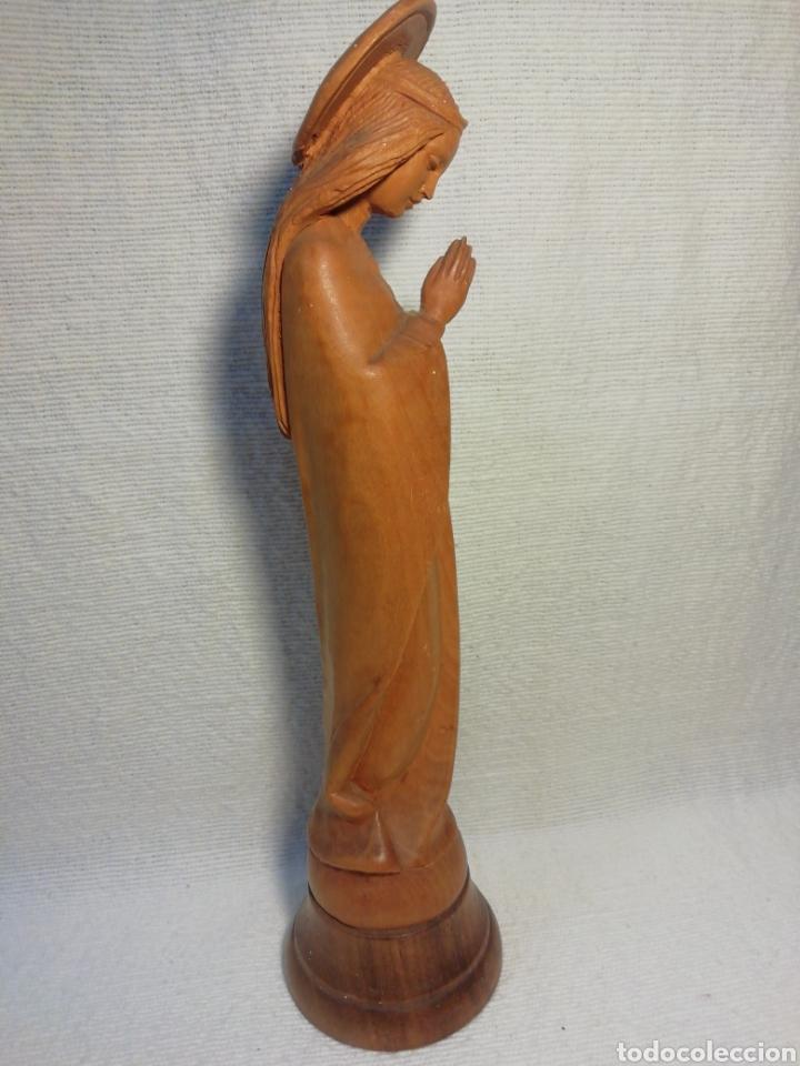 Arte: Virgen talla de madera vintage - Foto 3 - 183909098