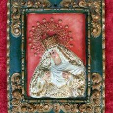 Arte: LA VIRGEN DEL ROSARIO. CERÁMICA PINTADA A MANO. ESPAÑA. SIGLO XIX-XX. Lote 183915281