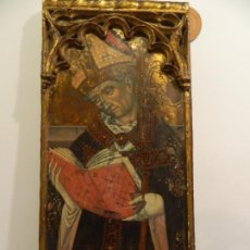 Arte: SANTO OBISPO, ESCUELA ARAGONESA, TEMPLE SOBRE TABLA. Lote 183927715