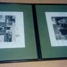 Arte: 2 GRABADOS/ESTAMPAS AGUAFUERTE ANTIGUOS, EN PAPEL VITELA. Lote 183930035
