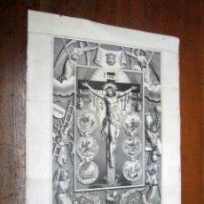 Arte: GRABADO LITOGRAFICO EL SANTISIMO CRISTO DE ZALAMEDA - INDULGENCIAS - FABRIQUE D'ESTAMPES GANGEL METZ. Lote 183940135