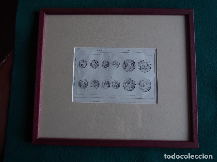 GRABADO CON MARCO Y CRISTAL MEDAILLES 1844. AL ACERO POR VERNIER LEMAITRE DIREXIT. NUMISMÁTICA (Arte - Arte Religioso - Grabados)