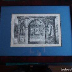 Arte: SOBERBIO GRABADO ARQUITECTURA ENMARCADO CA. 1800. Lote 183942726