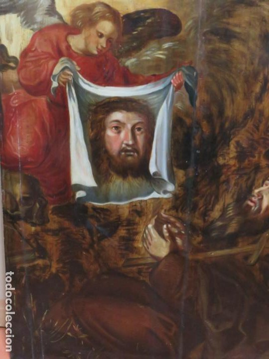 Arte: ESCUELA ESPAÑOLA DEL SIGLO XV-XVI RETABLO DEVOCIONAL EX-VOTO, OLEO SOBRE TABLA ONDULADA - Foto 2 - 184079152