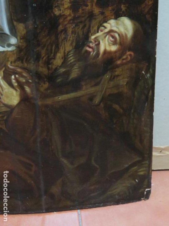 Arte: ESCUELA ESPAÑOLA DEL SIGLO XV-XVI RETABLO DEVOCIONAL EX-VOTO, OLEO SOBRE TABLA ONDULADA - Foto 4 - 184079152