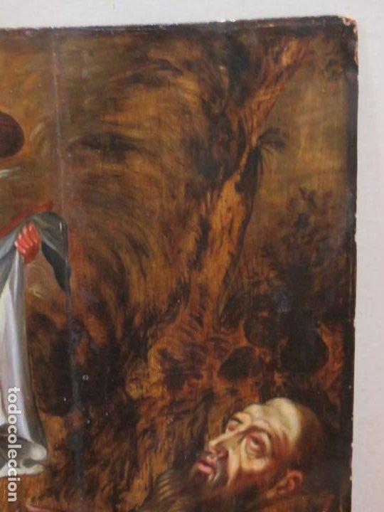 Arte: ESCUELA ESPAÑOLA DEL SIGLO XV-XVI RETABLO DEVOCIONAL EX-VOTO, OLEO SOBRE TABLA ONDULADA - Foto 10 - 184079152
