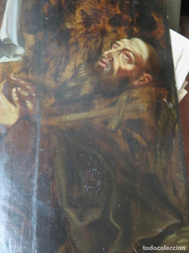 Arte: ESCUELA ESPAÑOLA DEL SIGLO XV-XVI RETABLO DEVOCIONAL EX-VOTO, OLEO SOBRE TABLA ONDULADA - Foto 12 - 184079152