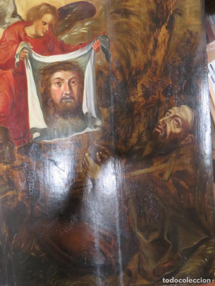 Arte: ESCUELA ESPAÑOLA DEL SIGLO XV-XVI RETABLO DEVOCIONAL EX-VOTO, OLEO SOBRE TABLA ONDULADA - Foto 14 - 184079152