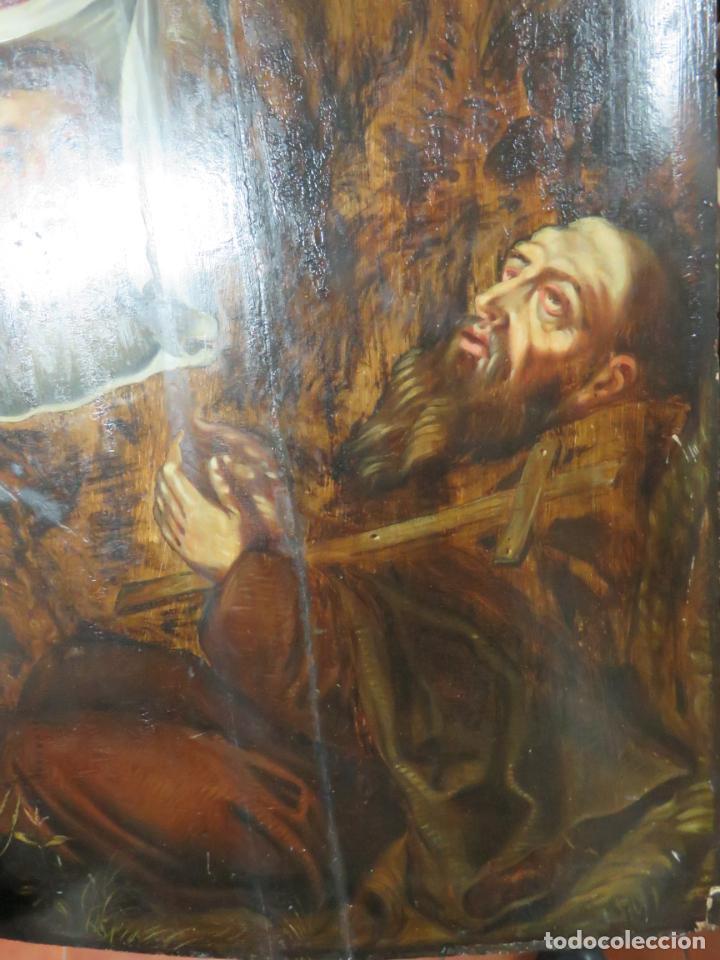 Arte: ESCUELA ESPAÑOLA DEL SIGLO XV-XVI RETABLO DEVOCIONAL EX-VOTO, OLEO SOBRE TABLA ONDULADA - Foto 15 - 184079152